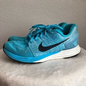 Nike LunarGlide 7 Blue And White Running Shoes